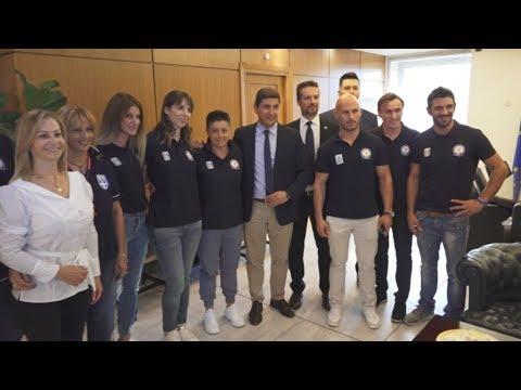 Συνάντηση Αυγενάκη με την ελληνική αποστολή που συμμετείχε στους Παγκόσμιους Taekwondo Αστυνομικών