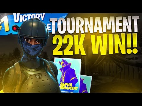 FORTNITE ALPHA TOURNAMENT 22 Kill WIN! - Fortnite Battle Royale