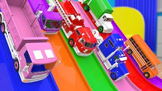 Video Colors for Children - Learn Colors for Kids with Trucks Street Vehicles Learning Video MP3, 3GP, MP4, WEBM, AVI, FLV Juni 2019