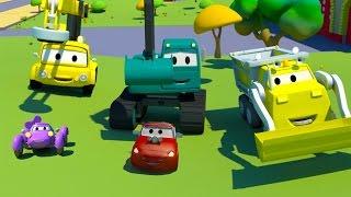 Equipo Constructor: Camión Volquete, la Grúa y la Excavadora en la carrera de coches de bebés full download video download mp3 download music download