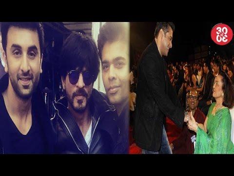 Shahrukh & Ranbir Visit Karan Johar's Babies | Sal