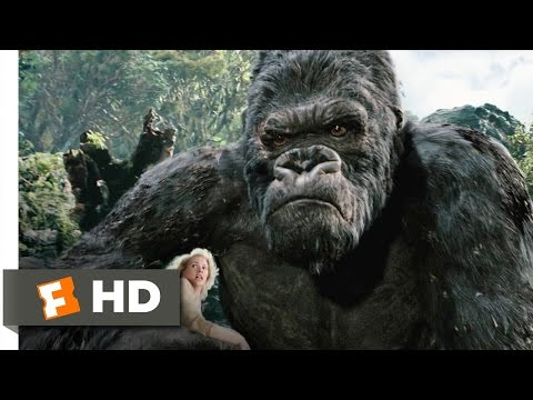 King Kong (3/10) Movie CLIP - Kong Battles the T-Rexes (2005) HD (видео)