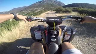 1. Can-Am DS 450 Riding Top Speed On Board Gopro 4