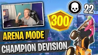 AMAZING 22 Kill Game from Tfue in Champion Devision Arena Mode (Fortnite Battle Royale)