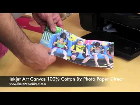 Inkjet Art Canvas 100% Cotton By Photo Paper Direct