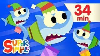 Video Santa Shark - Featuring Baby Shark | + More Kids Songs | Christmas Special MP3, 3GP, MP4, WEBM, AVI, FLV Desember 2018