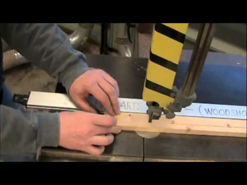 band saw - A brief demonstration of how a band saw works and what it can do.