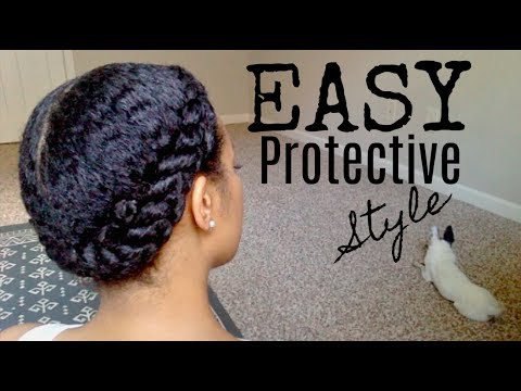 Short hair styles - Quick and EASY Protective Style (Long wear)  AccordingToChloeC