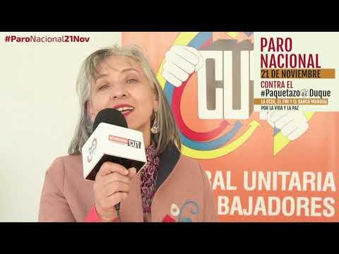Ligia Inés Alzate invita al #ParoNacional21N