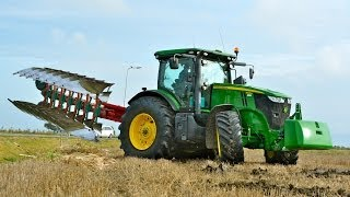 Video John Deere 7260R + 7 furrow LO 100 on-land ploughing / ploegen - Thes Agro MP3, 3GP, MP4, WEBM, AVI, FLV Juni 2017