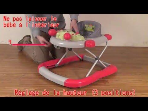Trotteur multi positions pour bébé TROT15. Vendu par bebeachat.com