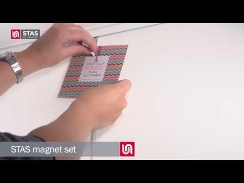 STAS magnet set white