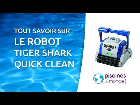 d couvrez les robots de piscine tiger shark quick clean et aquashark. Black Bedroom Furniture Sets. Home Design Ideas