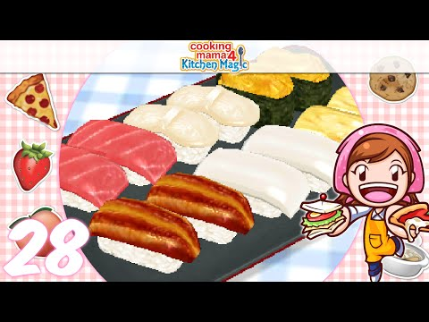 [Let's Play] Cooking Mama 4 Kitchen Magic - EP28: Sushi (/^▽^)/