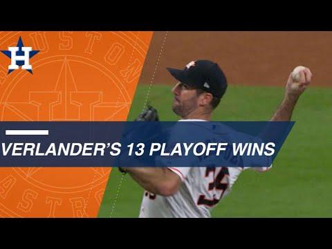 Video: Verlander has 2nd most postseason wins in AL history