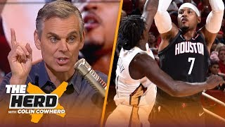 Colin's reaction to Melo's debut in Houston, prediction for Ingram in 2018-19 | NBA | THE HERD