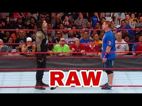 John Cena returns to Raw for a confrontation with Roman Reigns_ Raw, Aug  21, 2017