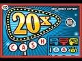 Huge Winner! $20,000 Jackpot! 20X Cash New Jersey Lottery Instant Scratch Off Ticket #1