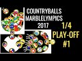 "FINAL #1 Countryballs Marble Race: Marblelympics 2017 ""1/4 PLAY"