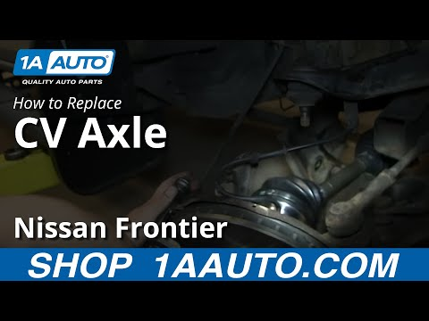 How To Install Replace Front Axle CV Joint 1998-04 Nissan Frontier and Xterra