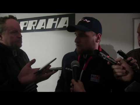 Obránce Jakub Jeřábek po prvním společném tréninku národního týmu