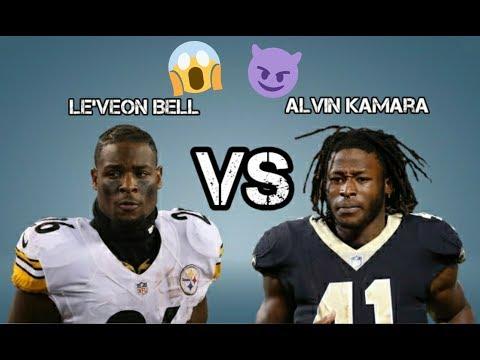 Le'veon Bell VS Alvin Kamara| Madden 18