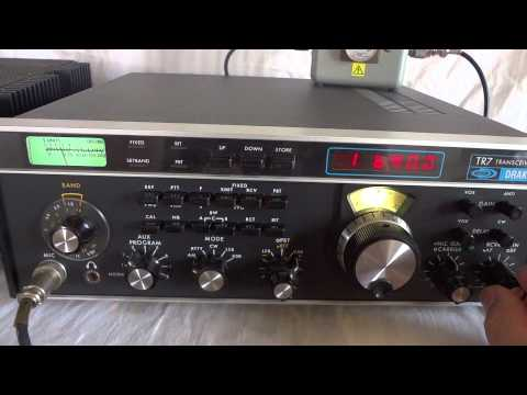 Classic Drake TR-7 HF SSB ham transceiver in near mint condition
