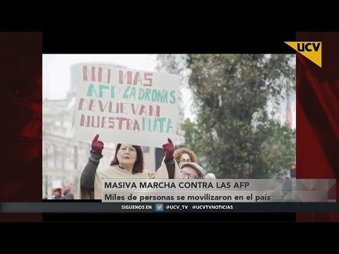video Miles de personas se movilizaron en masiva marcha contra las AFP