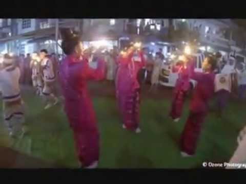 Rakhine - Rakhine (Arakan) traditional dance at my neighborhood in Yangon, Myanmar (Burma)