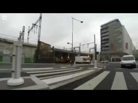 Issue Piste cyclable rue d'Aubervilliers vers pont-rail 75019