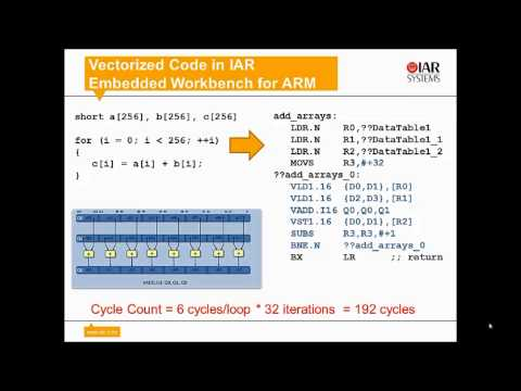 Automatic NEON vectorization in IAR Embedded Workbench for ARM