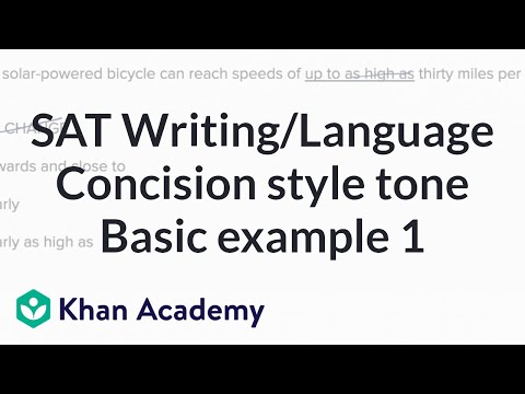 Writing Concision Style And Tone Basic Example 1 Video Khan