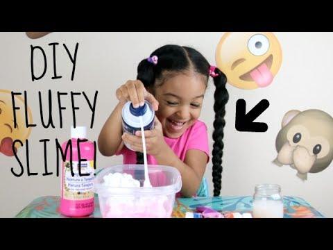 DIY How To Make Easy FLUFFY SLIME!!!!