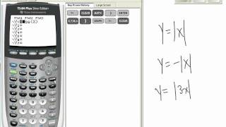 Absolute Value Graphs on TI 83/84