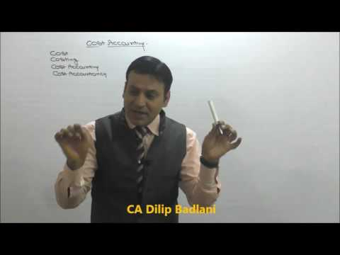 Costing : Basic Cost Concepts : Chapter 1 : Lecture 1 : CA : CS : CMA (видео)