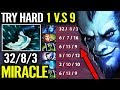 Impossible 1 vs 9 IMBA CARRY RIKI Despite Big Nerf 7.19d Saddest Gameplay Dota 2 by Miracle