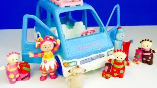 IN THE NIGHT GARDEN Toys Ride Blue Fisher Price Van!