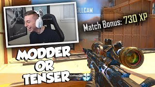 "Pretending to be a modder 😂... Leave a like for these funny reactions and more bo2 aimbot trickshotting videos!Previous Video: https://youtu.be/5EFmudWRMPsSubscribe: http://bit.ly/16JaOpTApparel: https://electronicgamersleague.com/collections/tenser► FOLLOW ALL MY SOCIAL MEDIATwitter: http://www.twitter.com/TenserInstagram: http://www.instagram.com/TenserTwitch: http://www.twitch.tv/TenserSnapchat: byTenserModder who helped https://twitter.com/Faxxed10% Gamma Labs Discount Code ""TENSER""http://www.gfuel.comDON'T FORGET TO LEAVE A LIKE IF YOU ENJOYED!"