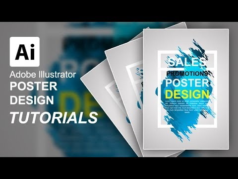 Create Poster Abstract With Adobe Illustrator For Beginners