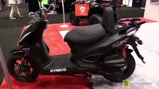 8. 2016 Kymco Super 8 150 X Scooter - Walkaround - 2015 EICMA Milan