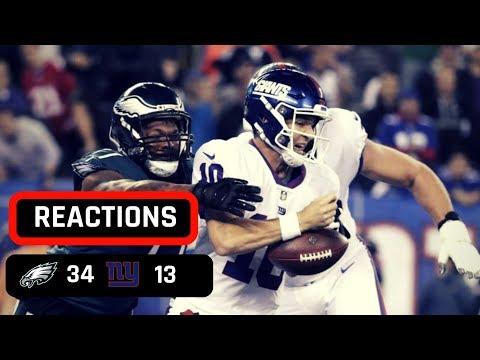 Philadelphia Eagles vs New York Giants Week 6 Thursday Night Football Recap   ELI NEEDS TO GO NOW!