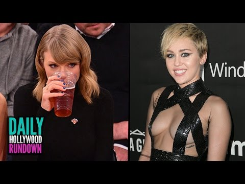 miley - More Celebrity News ▻▻ http://bit.ly/SubClevverNews Taylor Swift enjoys a girls night at the Knicks game with Karlie Kloss, Miley Cyrus forgot half her dress at the AmFar gala and more...