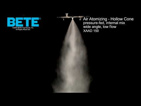 XAAD 150 - Air Atomizing Hollow Cone Spray Pattern Video