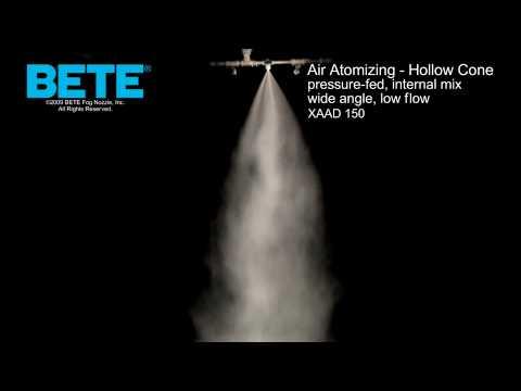 XAAD 150  - 空气雾化空心锥形喷雾形状视频gydF4y2Ba