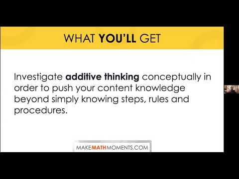 Episode 2: Make Math Moments Through Additive Thinking