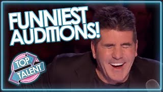 Video FUNNIEST AUDITIONS EVER ON GOT TALENT MP3, 3GP, MP4, WEBM, AVI, FLV Maret 2019