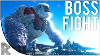 MEGAPITHECUS BOSS FIGHT! - Let's Play Ark Survival Evolved (PVP Gameplay S7P23)