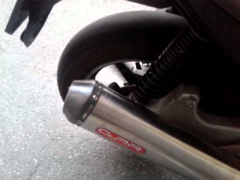 Derbi Rambla 300 GPR exhaust on e off db Killer