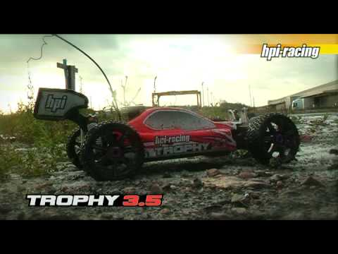 HPI Trophy 3.5 - For more info check out:http://www.hpieurope.com/kit-info.php?partNo=10508&lang=en Check out the Trophy 3.5, the perfect way to get into nitro 1/8 scale bugg...