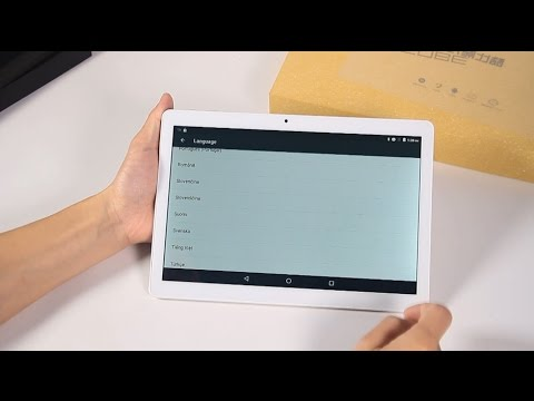CUBE T12 MTK8321 Tablet PC Hands-On Video